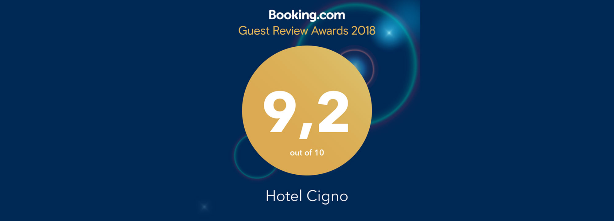 Hotel Cigno Booking Award 2018
